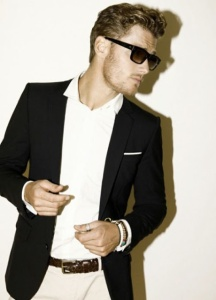 gentleman swag polo top with blazer